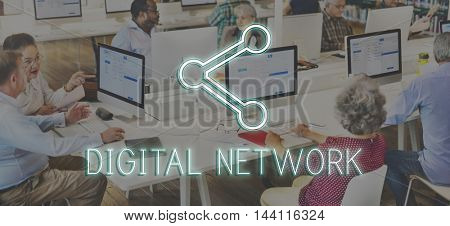 Communication Connection Network Online Concept