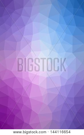Geometric tile mosaic with purple and blue triangles. Abstract polygonal and low poly pattern background. Ideal for screen HD wallpaper on cell phone or other works and design.