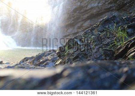 Waterfalls in the Italian Dolomites near Cortina