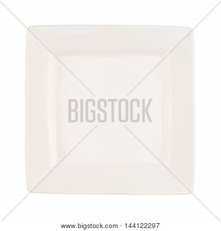 Ceramic plate isolated on a white background.