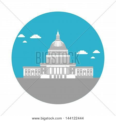 flat icon Capitol in vector format eps10