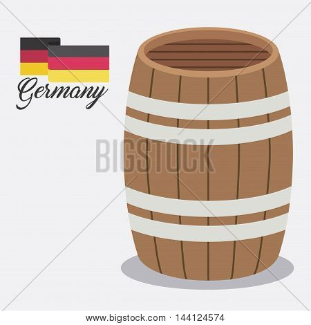 beer barrel ale germany vector illustration design