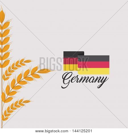 germany flag isolated icon vector illustration design