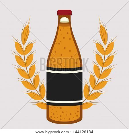 beer drink ale germany vector illustration design
