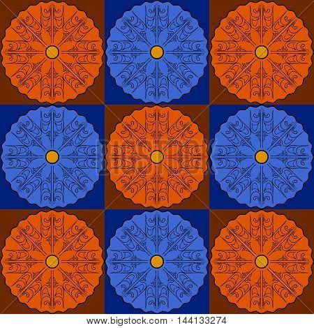 Art abstract floor geometric seamless pattern. Vector illustration