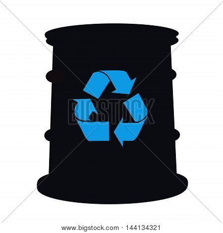 Sign recyclable products and barrel for petroleum products