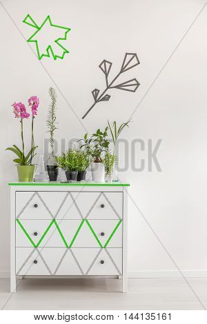Change Commode Into A Flower Stand