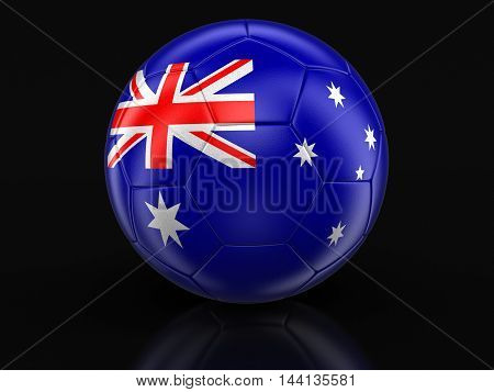 3D Illustration. Soccer football with Australian flag. Image with clipping path