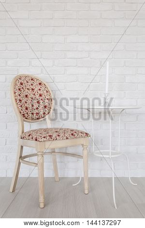 Stylish Chair And Small White Table