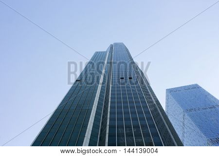 Moscow business center towers: view from the ground
