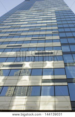 Moscow business center tower: view from the ground