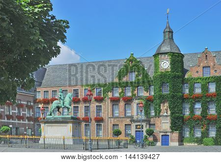 historic Town Hall of Duesseldorf in Old Town near Rhine River,  Rhineland, North Rhine Westphalia, Germany