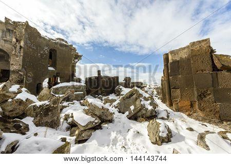 Ani Harabeleri, Ani ruins in Kars province to Turkey