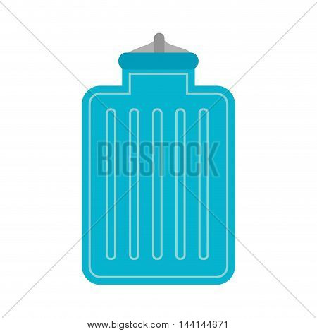 water bag hot cold warm temperature container vector illustration