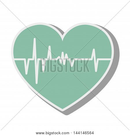 heart cardiology cardio frequency pulse rhythm medical vector illustration