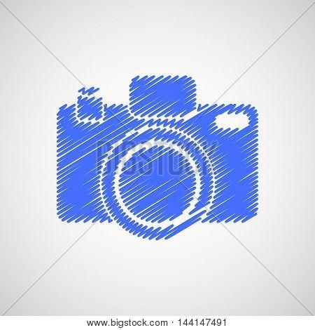 Camera-sketch-blue