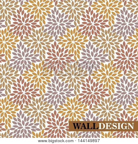 Abstract seamless leaves background, decor leaves, decor leaves, ornate leaves, pattern background, wrapper pattern, pattern paper, textile pattern. Vector.
