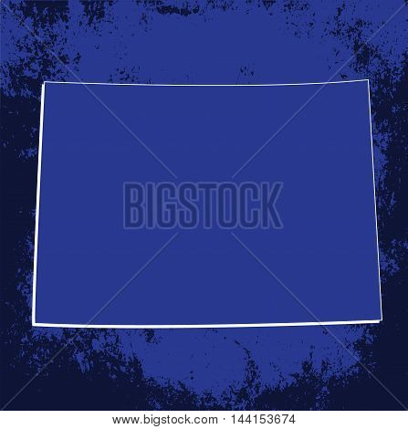 3D Colorado (USA) Grunge Blueprint outline map with shadow