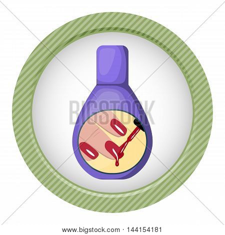 Nail polish icon. Vector illustration in cartoon style