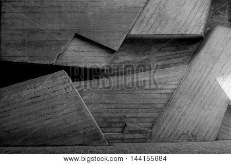 Abstract geometric background of the concrete close up