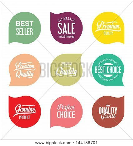 Modern Sale Badges Collection Vector 7.eps