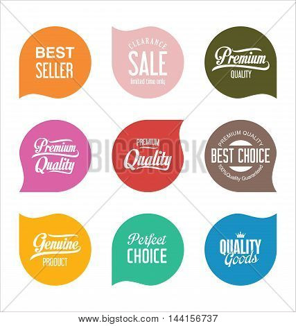 Modern Sale Badges Collection Vector 9.eps