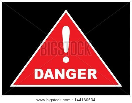 Sign showing danger . Warnings about the dangers . eps10 vector illustration