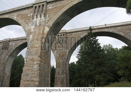 Famous Stanczyki bridges in Poland, like roman aqueduct