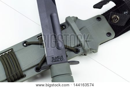 military combat knife cross pattern ka-bar editorial  Ka-Bar Knife KaBar brand is owned by Alcas Corporation