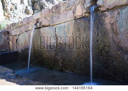 Water Fountain In Ollantaytambo