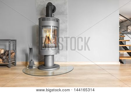 Functional Fireplace With Trendy Look