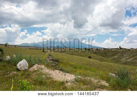 Rural landscape in Cappadocia Central Anatolia Turkey