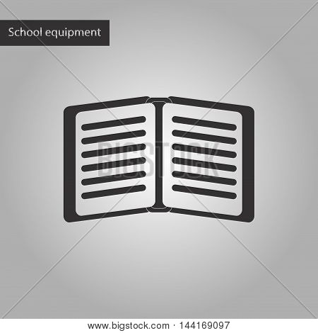 black and white style icon school notebook
