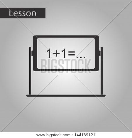 black and white style icon school blackboard
