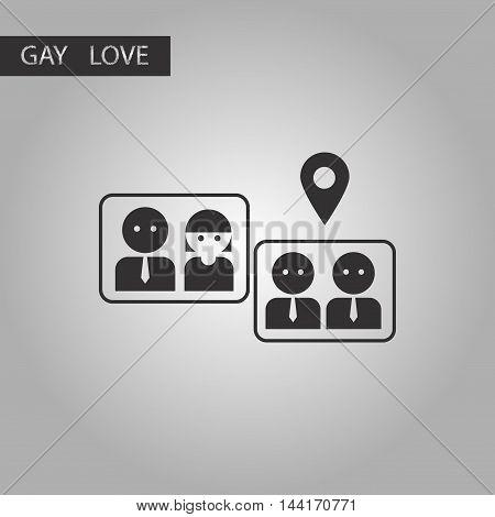 black and white style icon gay marriage set