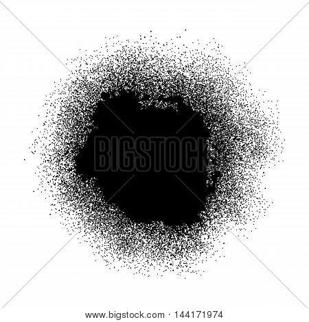 Black paint splash on white background. Vector illustration.