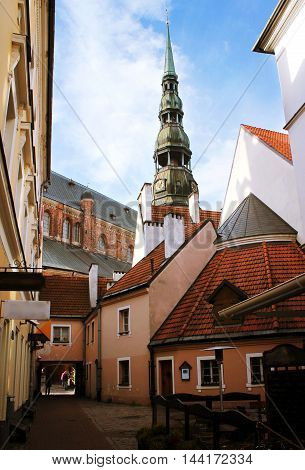 Old Town of Riga, view of the tower