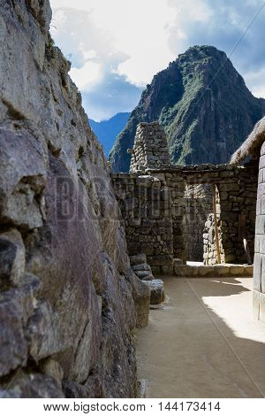 Inca Doorways In Machu Pichu