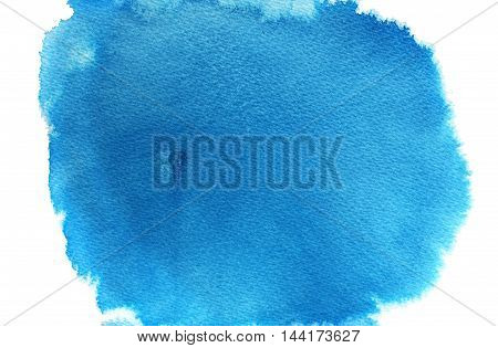 Hand drawn abstract watercolor background. Blue illustration. Ink illustration. Hand drawn watercolor painting.