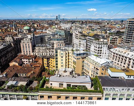 Aerial View Of Milan, Italy Hdr