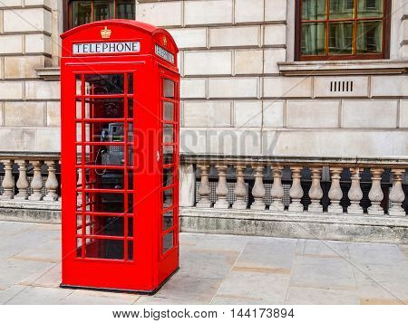 London Telephone Box Hdr
