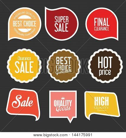 Modern Sale Stickers And Tags Collection Vector 7.eps