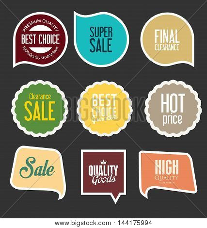 Modern Sale Stickers And Tags Collection Vector 6.eps