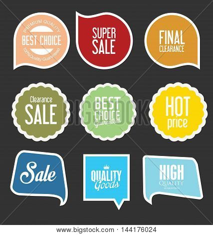 Modern Sale Stickers And Tags Collection Vector 2.eps