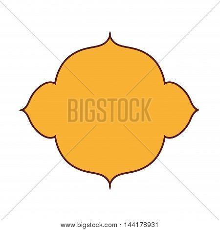 blank retro vintage badge or label frame decoration vector illustration