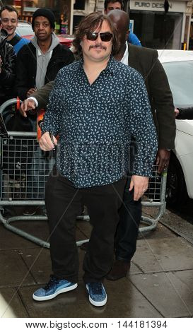 LONDON, UK, FEB 5, 2016: Jack Black seen at the BBC radio one studios picture taken from the street
