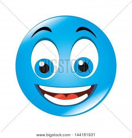 emoticon cartoon expression of feelings and emotions happiness smile vector illustration