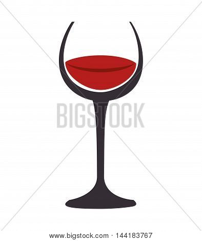 wine glass red beverage drink alcohol liquor vector illustration