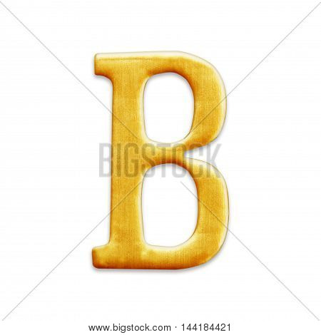 golden letter collection - B isolated on white background