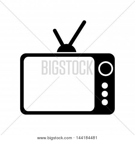 retro or vintage tv old television antique vector illustration